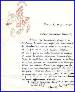 Surréalisme André Breton à Edmond Bomsel, autographe