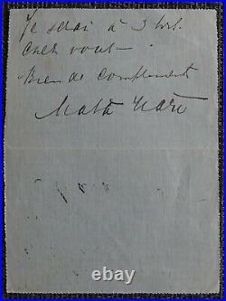 TRES RARE autographe de MATA-HARI