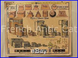 Tableaux Muraux 11 scolaire Système métrique poids mètre monnaies or Mézières
