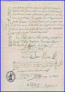 Talleyrand & Chaptal / Document Signé (1801) / Négociant Commerce Diamants