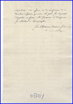 Talleyrand / Lettre Signée (1804) / Royaume De Naples / Geographe Zannoni