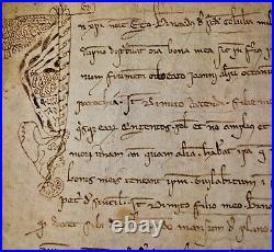 Testament De Bernat De Santa Coloma À Son Fils Bernat. Parchemin. Espagne. 1301
