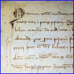Testament De Bernat De Santa Coloma. Parchemin Manuscrit. Catalunya. Espagne. 1334