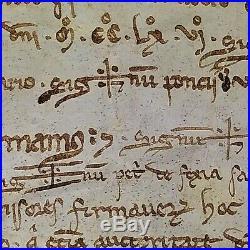 Testament De Pedro De Cuculearis À Sa Femme. Parchemin. Catalogne. Espagne. 1266