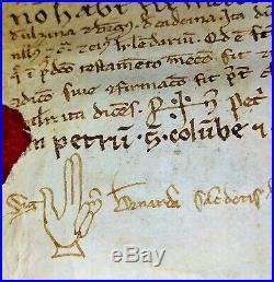 Testament. Pierre De Santa Coloma En Faveur De Son Fils. Parchemin. Espagne. 1230