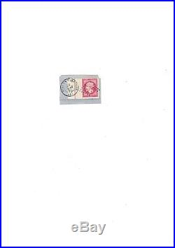 Timbre 1 Fr Carmin N° 18 Bord de Feuille + Filet Encadrement S/ Fragment Lettre