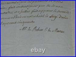 Tres Rare & Authentique Document Historique Signe Marie-louise De Rohan 1750