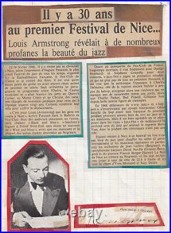 Tres Rare Autographe De Django Reinhardt Festival Jazz Nice1948