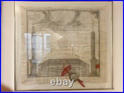 Tres Rare Diplome Franc Macon Signe Guillotin Grand Orient De Caen 1778