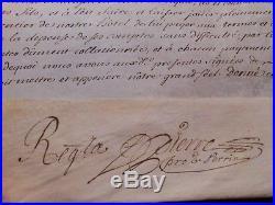 Tres Rare Parchemin Avec Sceau Du Duc De Lorraine Leopold Ier En 1712