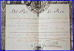 Très beau brevet autorisant le port de la décoration du Lys