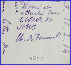 Très belle lettre du père Charles de Foucauld