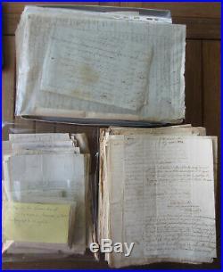 Très important lot de lettres, courriers et document sur la Bretagne, très beau