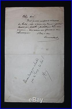 Très intéressante lettre de La Plume 1896 sur le travail de Félicien Rops Vanier