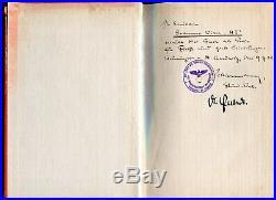 Très rare Autographes ORIGINAUX WW2 sur livre Edition de 1942