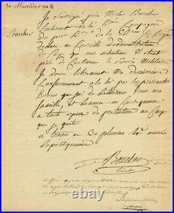 Très rare autographe su général MARCEAU DESGRAVIERS 1796