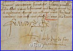Très rare brevet signé par François II, dernier duc de Bretagne