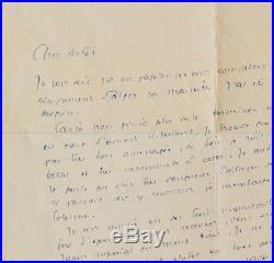 Très rare et belle lettre de Saint-Exupéry je voudrais connaître la paix