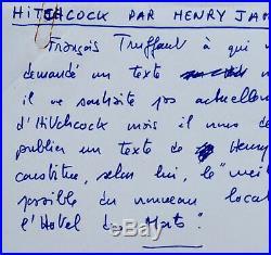 Truffaut résume Hitchcock avec les mots d'Henry James