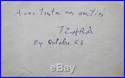 Une des dernières pensées de Tristan Tzara