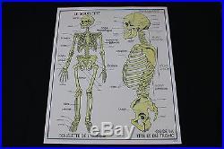 V230 Affiche scolaire papier Rossignol 9 Excrétion 10 Squelette os 9075 cm