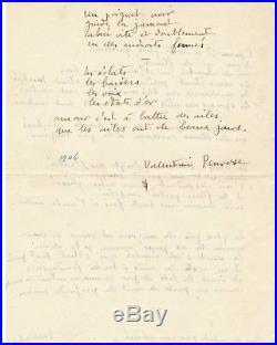 Valentine Penrose poème autographe signée surréalisme surrealiste art