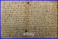 Vallee D Ossau Pyrennees Tres Rare Charte De La Paix Du 6 Aout 1646