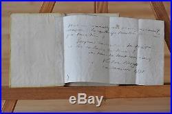 Victor HUGO Lettre Autographe+Copie manuscrite Constant HENNION-Succes. HENNION