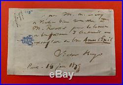 Victor HUGO Lettre autographe signée à Calmann Lévy