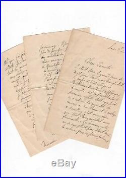 Victor Hugo / Funérailles (1885) / Belle Lettre Autographe D'un Témoin