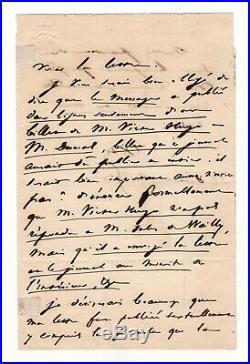 Victor Hugo / Lettre Autographe (1837) / Alexandre Dumas / Le Messager