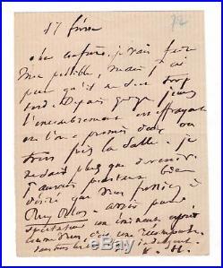 Victor Hugo / Lettre Autographe (1872) / Ruy Blas Au Thétre De L'odéon