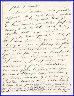 Victor Hugo / Lettre Autographe A Edmond Alton-shee