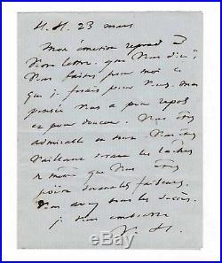 Victor Hugo / Lettre Autographe / Guernesey / À Paul Meurice / Poésie