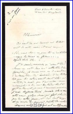 Victor Hugo / Trois Mots Autographes Sur Une Lettre (1872) /