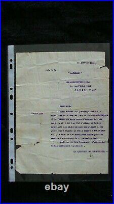 Vieux papiers de 1942 concernant le blocage des biens des juifs pendant la WW2