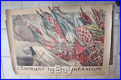 WW1 1914 / 1918 LOT de 6 affiches emprunts de la guerre par ABEL FAIVRE