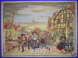 X459 Tres Rare Affiche Ecole Evacuation Alsace Guerre 1870