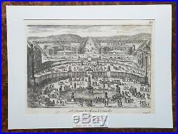 XVII ème Superbe Gravure Les Avenues du Château de Versailles PL 85 de 1670