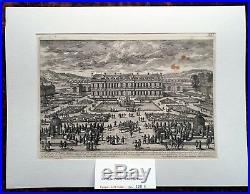 XVII ème Versailles Superbe Gravure Rare Vue Château de Clagny PL 121 1670