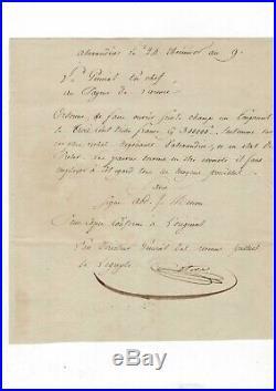 (campagne D'egypte) / Document Signé Du Comte Estève (1801) / Napoléon /