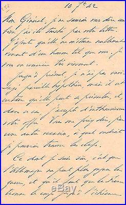 (de Gaulle) / General Giraud Lettre Autographe (1942) / Defaite Allemande