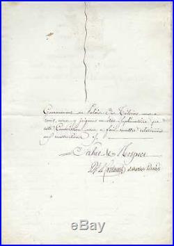 (napoléon) / Chteau Des Tuileries / Charles Percier Lettre Signée (1801)