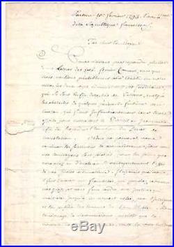 (napoléon) / Corse / Sartène / 1793 / Lettre Des Officiers À Ange Chiappe