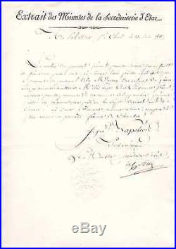 (napoleon II / Décret Impérial) / Manuscrit Signé Par Le Comte Daru (1811)