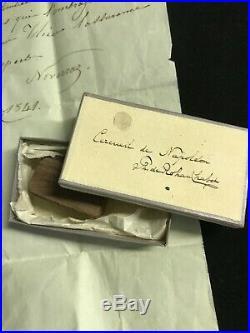 (napoléon) / Sainte-hélène / Relique Du Cercueil / Jean Abram Noverraz