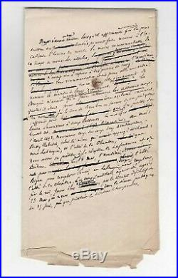 (victor Hugo) / François Victor Hugo / Manuscrit Autographe /