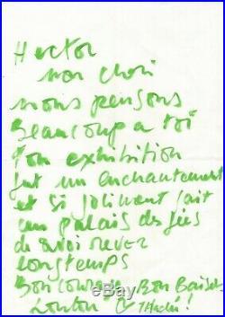 (yves Saint Laurent) / Loulou De La Falaise / Lettre Autographe / Klossowski